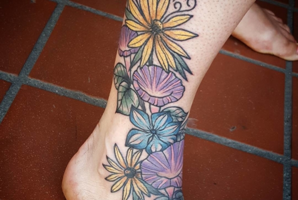 Some flowers I did for Heather a month or so ago and forgot to post.
