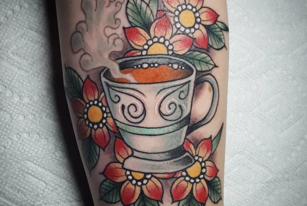 Fun one from today. Thanks for making my day so enjoyable, Kelly, Kate, and Mom! #coffeetattoo
