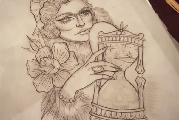 Large upper arm/shoulder or thigh piece I've been working on.  I've still got a few more drafts until I get it to where I want it to be.