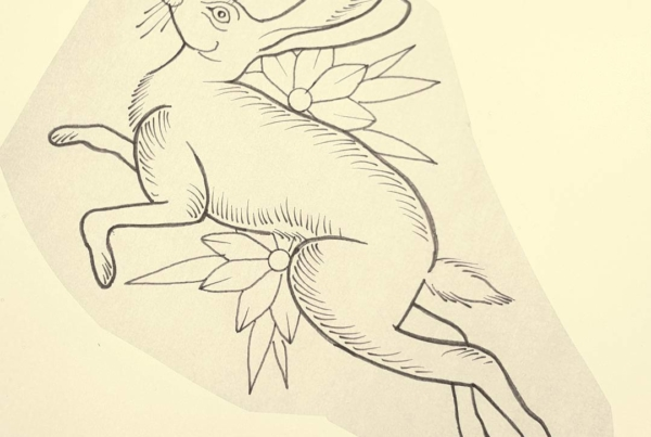 New drawing available to be tattooed. Cause jack rabbits are cool!