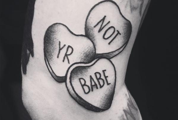 Couple candy hearts for @pushpanic #smokemdead #steadfasttattoo . . . . . ((¥)) #tattoos #btattooing #blackworkerssubmission #iblackwork #blackwork #blackworkers #inkstinctsubmission #blacktraditionals #BLACKTATTOOMAG #blxckink #tttism #TTTpublishing #greatattoo #blackflashwork #TattooLife #darkartists #blackworkershero #wiilsubmission #dot.work.ink #traditionaltattoo #onlythedarkest #blackandgrey #candyhearts