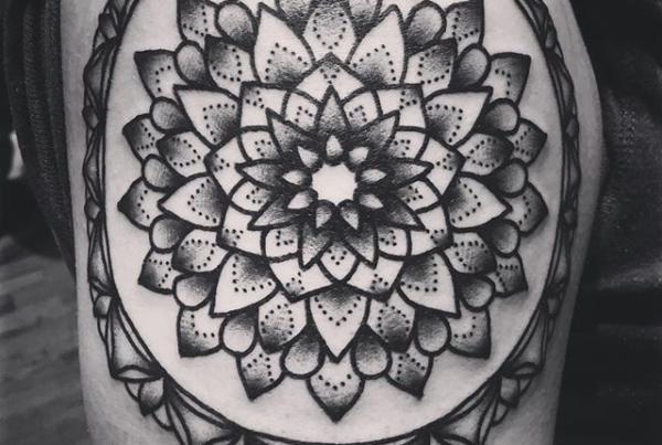 Mandala for Amanda the other night✊🏼#smokemdead #steadfasttattoo . . . . . ((¥)) #mandalatattoo #tattoos #btattooing #blackworkerssubmission #iblackwork #blackwork #blackworkers #inkstinctsubmission #blacktraditionals #BLACKTATTOOMAG #blxckink #tttism #TTTpublishing #greatattoo #blackflashwork #TattooLife #darkartists #blackworkershero #wiilsubmission #traditionaltattoo #onlythedarkest #blackandgrey #occultarcana #tattoolife #oldlines #TAOT #nowash