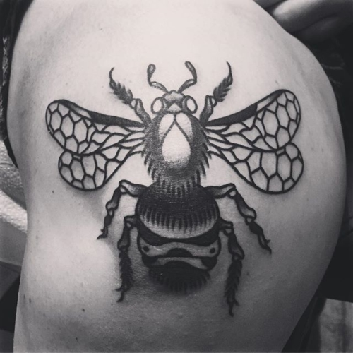 Been super busy and haven't been using/posting much on here but here's an awesome bee on @kennedy.cottrell 🐝#smokemdead #steadfasttattoo . . . . . ((¥)) #beetattoo #tattoos #btattooing #blackworkerssubmission #iblackwork #blackwork #blackworkers #inkstinctsubmission #blacktraditionals #BLACKTATTOOMAG #blxckink #tttism #TTTpublishing #greatattoo #blackflashwork #TattooLife #darkartists #blackworkershero #wiilsubmission #traditionaltattoo #onlythedarkest #blackandgrey #occultarcana #tattoolife #oldlines #TAOT #nowash