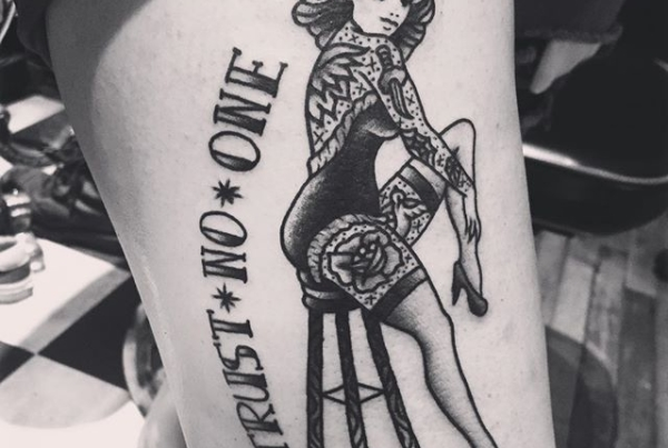 Pin up that I tattooed on Emily a couple weeks back🙌🏼#smokemdead #steadfasttattoo . . . . . ((¥)) #pinup #tattoos #btattooing #blackworkerssubmission #iblackwork #blackwork #blackworkers #inkstinctsubmission #blacktraditionals #BLACKTATTOOMAG #blxckink #tttism #TTTpublishing #greatattoo #blackflashwork #TattooLife #darkartists #blackworkershero #wiilsubmission #traditionaltattoo #onlythedarkest #blackandgrey #occultarcana #tattoolife #oldlines #TAOT #nowash