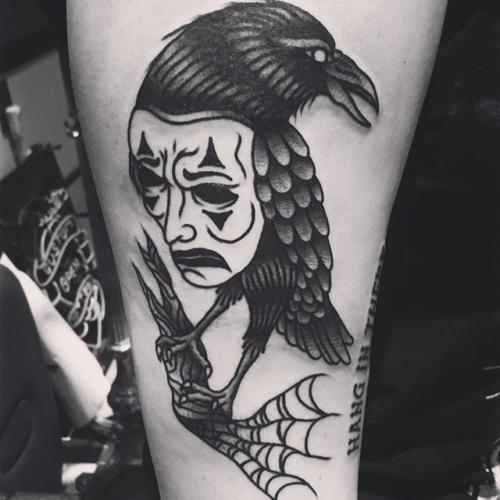 A tattoo for the crow on @bribri.bear ✊🏼#steadfasttattoo . . . . . ((¥)) #thecrow #tattoos #btattooing #blackworkerssubmission #iblackwork #blackwork #blackworkers #inkstinctsubmission #blacktraditionals #BLACKTATTOOMAG #blxckink #tttism #TTTpublishing #greatattoo #blackflashwork #TattooLife #darkartists #blackworkershero #wiilsubmission #traditionaltattoo #onlythedarkest #blackandgrey #occultarcana #tattoolife #oldlines #TAOT #nowash