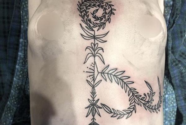 A lil wonky due to body posture but this ornamental piece was so much fun to do! Thank you so much molly🖤 shading to come! . . . . #tattoo #blackworktattoo #inkstinct #blackwork #blxckink #blackink #btattooing #blkttt #blackworkers #waverlyink #tttism #rochesterny #flashworkers #rochestertattoo #ladytattooer #tattoodo #workhorseirons #steadfast #onlythedarkest #foxtailtattoos #inkwork #linework #whipshaded #tradworkers #boldtattoo #blackworkartists #blackclawneedles #luckysupply #kingpintattoo #ornamental