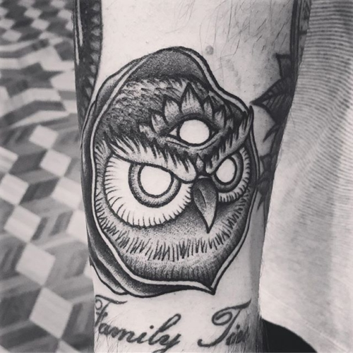 Chill owl for Cameron 🙏🏼#smokemdead #darkpearltattoo . . . . . ((¥)) #owltattoo #tattoos #btattooing #blackworkerssubmission #iblackwork #blackwork #blackworkers #inkstinctsubmission #blacktraditionals #BLACKTATTOOMAG #blxckink #tttism #TTTpublishing #greatattoo #blackflashwork #TattooLife #darkartists #blackworkershero #wiilsubmission #traditionaltattoo #onlythedarkest #blackandgrey #occultarcana #tattoolife #oldlines #TAOT #nowash #FORMink