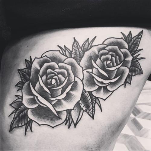 Some nice roses for @kathrynmylo 💃🏻#smokemdead #darkpearltattoo . . . . . ((¥)) #traditionalrose #tattoos #btattooing #blackworkerssubmission #iblackwork #blackwork #blackworkers #inkstinctsubmission #blacktraditionals #BLACKTATTOOMAG #blxckink #tttism #TTTpublishing #greatattoo #blackflashwork #TattooLife #darkartists #blackworkershero #wiilsubmission #traditionaltattoo #onlythedarkest #blackandgrey #occultarcana #tattoolife #oldlines #TAOT #nowash #FORMink